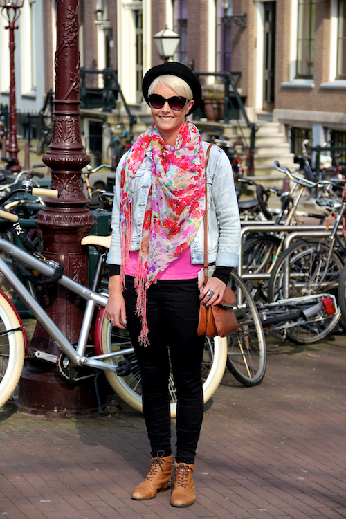 Fashion Population Amsterdam Street Style Floral Hat Bright Colors